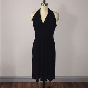 Evan Picone Sz 12 Black Halter Cocktail Dress